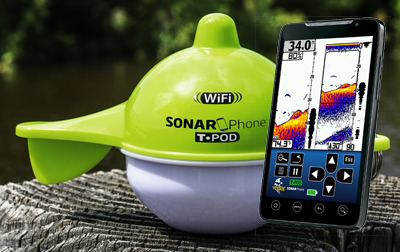 Portable depth sounder fishfinder with built in wifi for Wifi fish finder